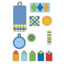 Planche de stickers gaufrés tag prep school