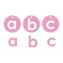 Boite de chipboard alphadots pink sorbet