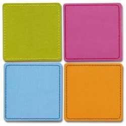 4 cartes en carton épais solid square