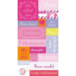 Feuille de stickers GIRL ARTEMIO