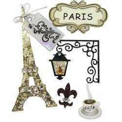 Planche de stickers 3d PARIS