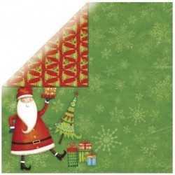 Papier 30,5cm x 30,5cm RAYHER Père Noël