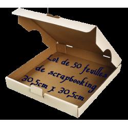 Boîte à pizza - 50 feuilles de scrapbooking 30,5cm x 30,5cm