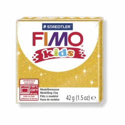 Pâte Fimo kids or pailleté n°112