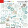 Feuille de stickers Noël givré ARTEMIO