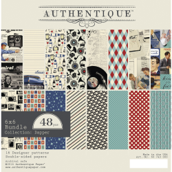 Bloc de 24 feuilles de scrap AUTHENTIC Dapper