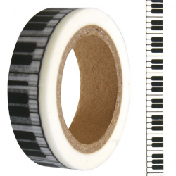 Washi tape touches de piano RAYHER 15mm x 15m
