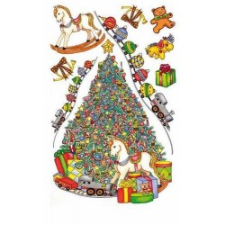 Transfert rub-on sapin de Noël ROYAL