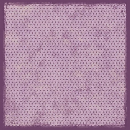 Papier 30,5cm x 30,5cm violet à pois