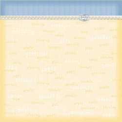 Papier 30,5cm x 30,5cm yellow baby