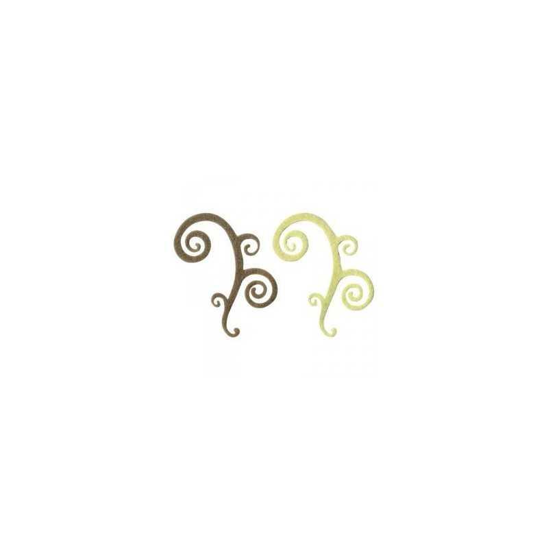 4 Arabesques Spirales épaisses en feutrine LOVE ARTEMIO