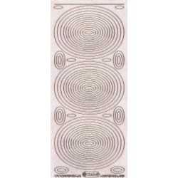 Planche de stickers peel off pailleté ovale