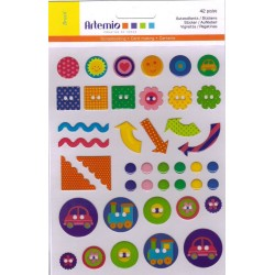 42 stickers epoxy BRASIL ARTEMIO