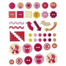 42 stickers epoxy GIRL ARTEMIO