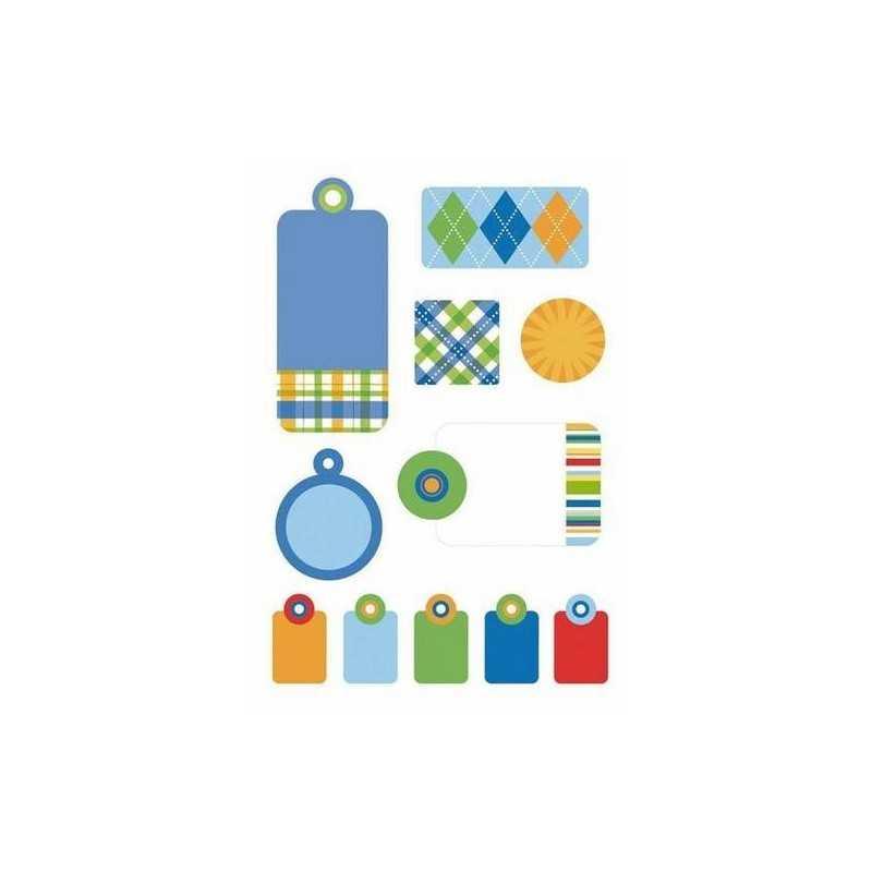 Planche de stickers gaufrés tag prep school PROVOCRAFT