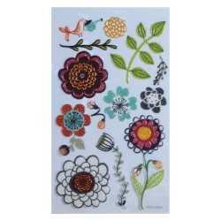 Stickers 3D glitter fleurs 4 DOVECRAFT