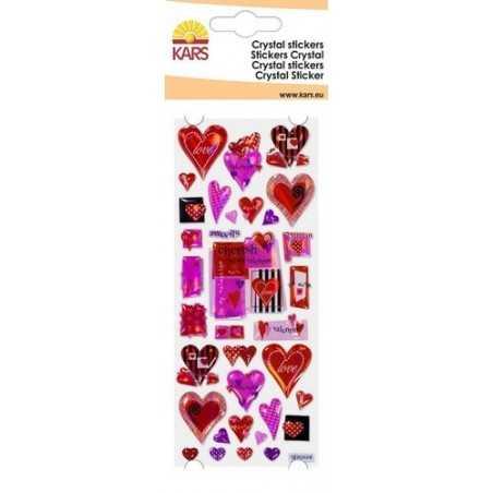 Stickers crystal coeur