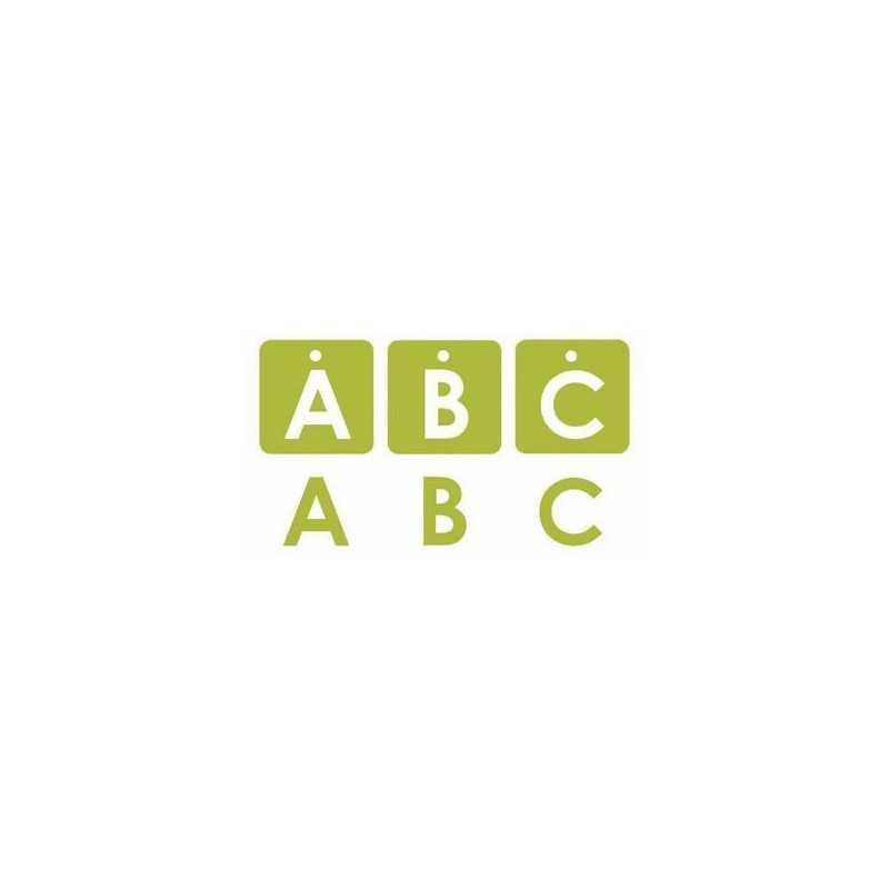 Boite de chipboard alphablock lime PROVOCRAFT