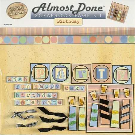 """Kit de scrapbooking """"anniversaire"""" 30,5cm x 30,5cm"""