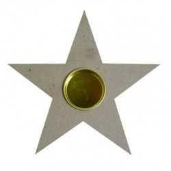 Porte bougie étoile