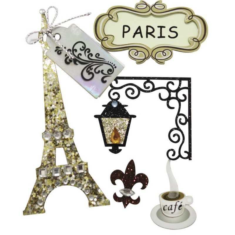 Planche de stickers 3d PARIS RAYHER