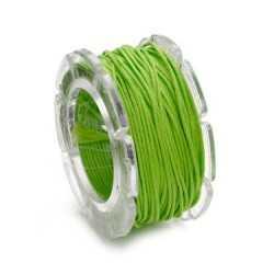 Cordon ciré 0,6cm / 10m vert