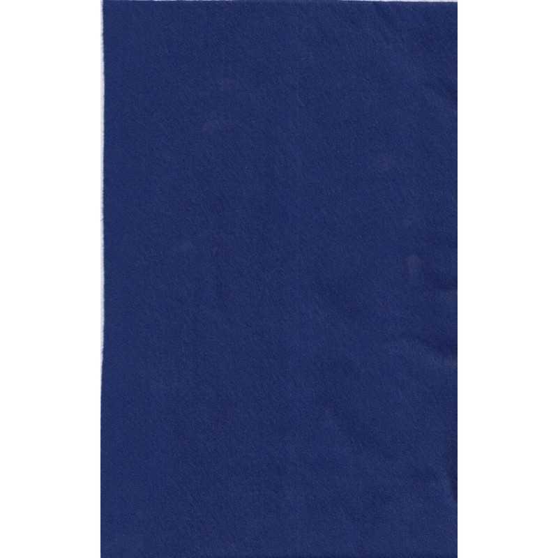 Feuille de feutrine 20 x 30cm souple 1mm bleu cobalt