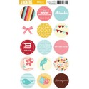 Stickers ronds adorable - KESI'ART