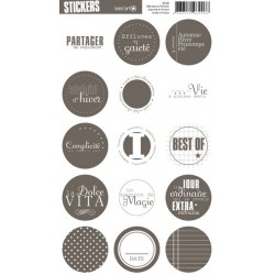 Stickers ronds taupe - KESI'ART