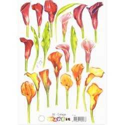 Papier à découper fleurs Arome