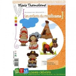 Moule thermo enfants du far west