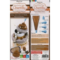 Mousse décorative chantilly marron 50g