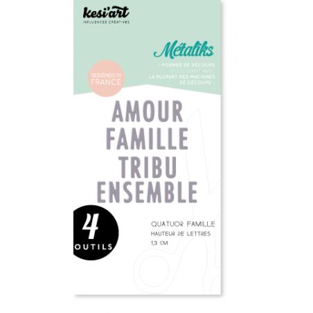 Dies de découpe Métaliks quatuor famille Kesi'art