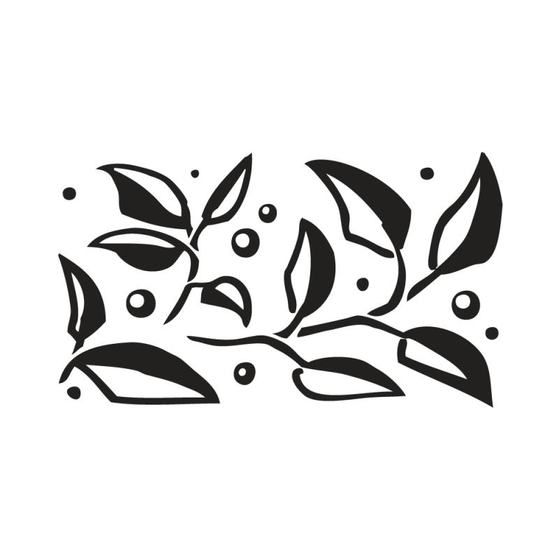 Tampon transparent frise de feuille  RAYHER