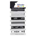 6 rubans imprimés black and white ARTEMIO 6x1M