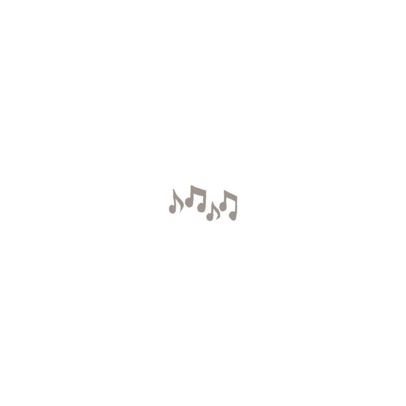 Tampon bois notes de musique
