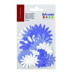 24 fleurs en papier mauves ARTEMIO