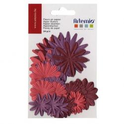 24 fleurs en papier oldies ARTEMIO