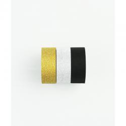 Lot de 3 rouleaux de washi tape or pailleté KESI'ART