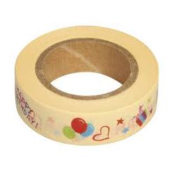 Masking tape happy birthday RAYHER 15mm x 15m