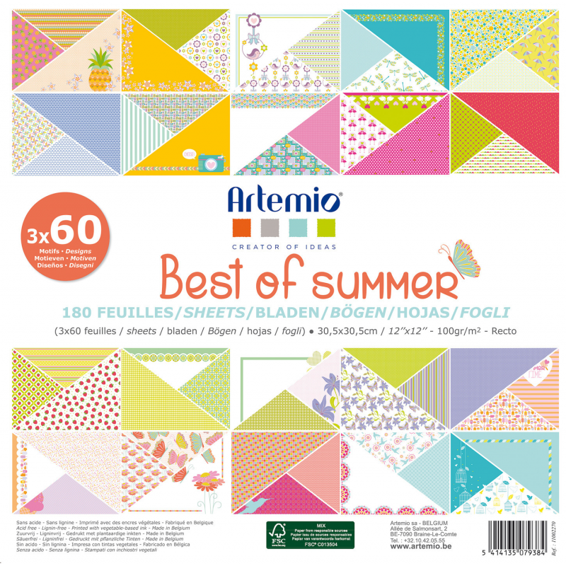 Bloc de 180 feuilles ARTEMIO Best of summer