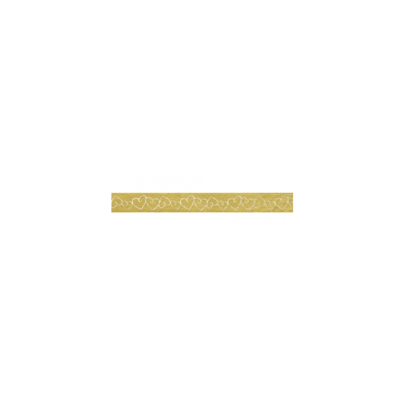 Masking tape coeurs dorés RAYHER 15mm x 15m
