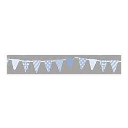 Masking tape guirlande fanions bleus RAYHER 15mm x 15m