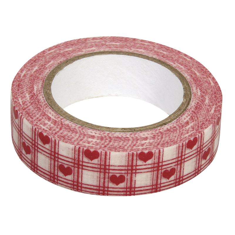 Masking tape coeurs RAYHER 15mm x 15m