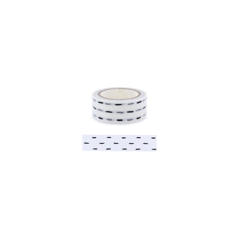 Masking tape tirets noirs La Fourmi 15mm x 5m