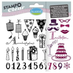 Stampo clear anniversaire adulte ALADINE