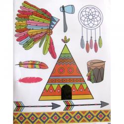 Tampons transparents totem indien ARTEMIO