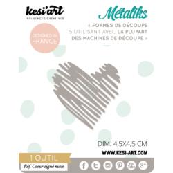 Dies de découpe Métaliks coeur signé main Kesi'art