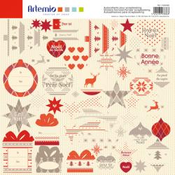 Feuille de stickers Noël jacquard ARTEMIO