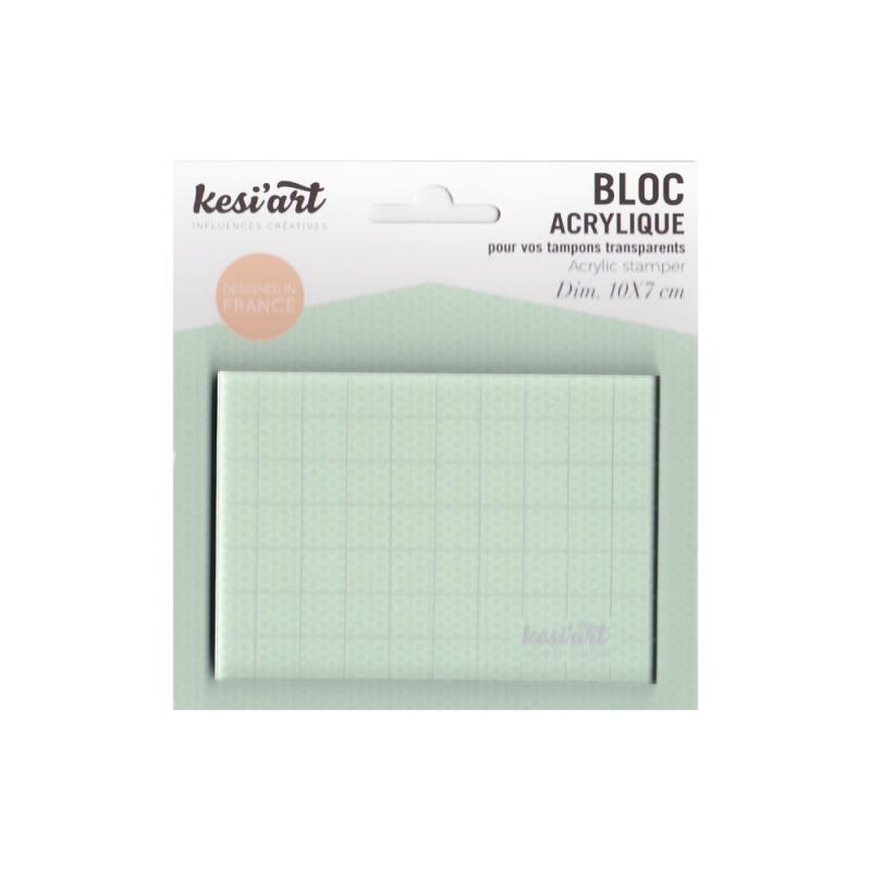 Bloc acrylique pour tampons clear et non montés Kesi'art 10cm x 7cm